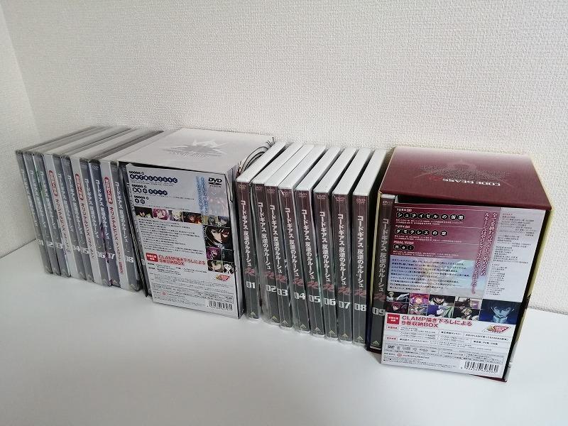 ほぼ新品未開封 コードギアス 反逆のルルーシュ+R2 初回限定版 DVD 全18巻セット 送料無料_画像1