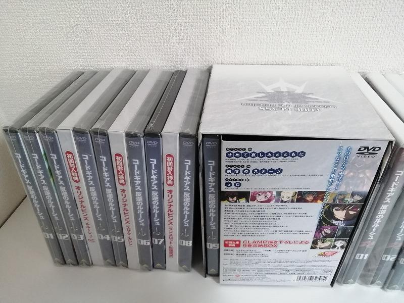 ほぼ新品未開封 コードギアス 反逆のルルーシュ+R2 初回限定版 DVD 全18巻セット 送料無料_画像2