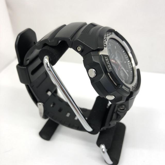 中古 G-SHOCK ジーショック CASIO カシオ 腕時計 AW-590 アナデジ デジアナ ラウンドフェイス コンビネーションモデル ブラック RY3071_画像4
