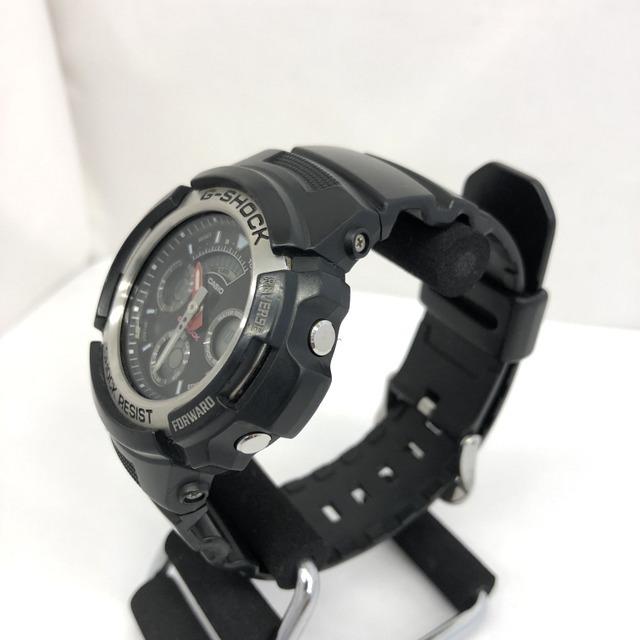 中古 G-SHOCK ジーショック CASIO カシオ 腕時計 AW-590 アナデジ デジアナ ラウンドフェイス コンビネーションモデル ブラック RY3071_画像3