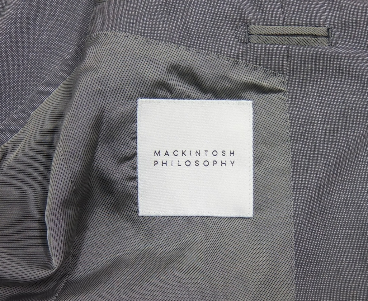 マッキントッシュ フィロソフィー 春夏 2B ジャケット グレー 38R テーラード ブレザー 状態良 MACKINTOSH PHILOSOPHY_画像7