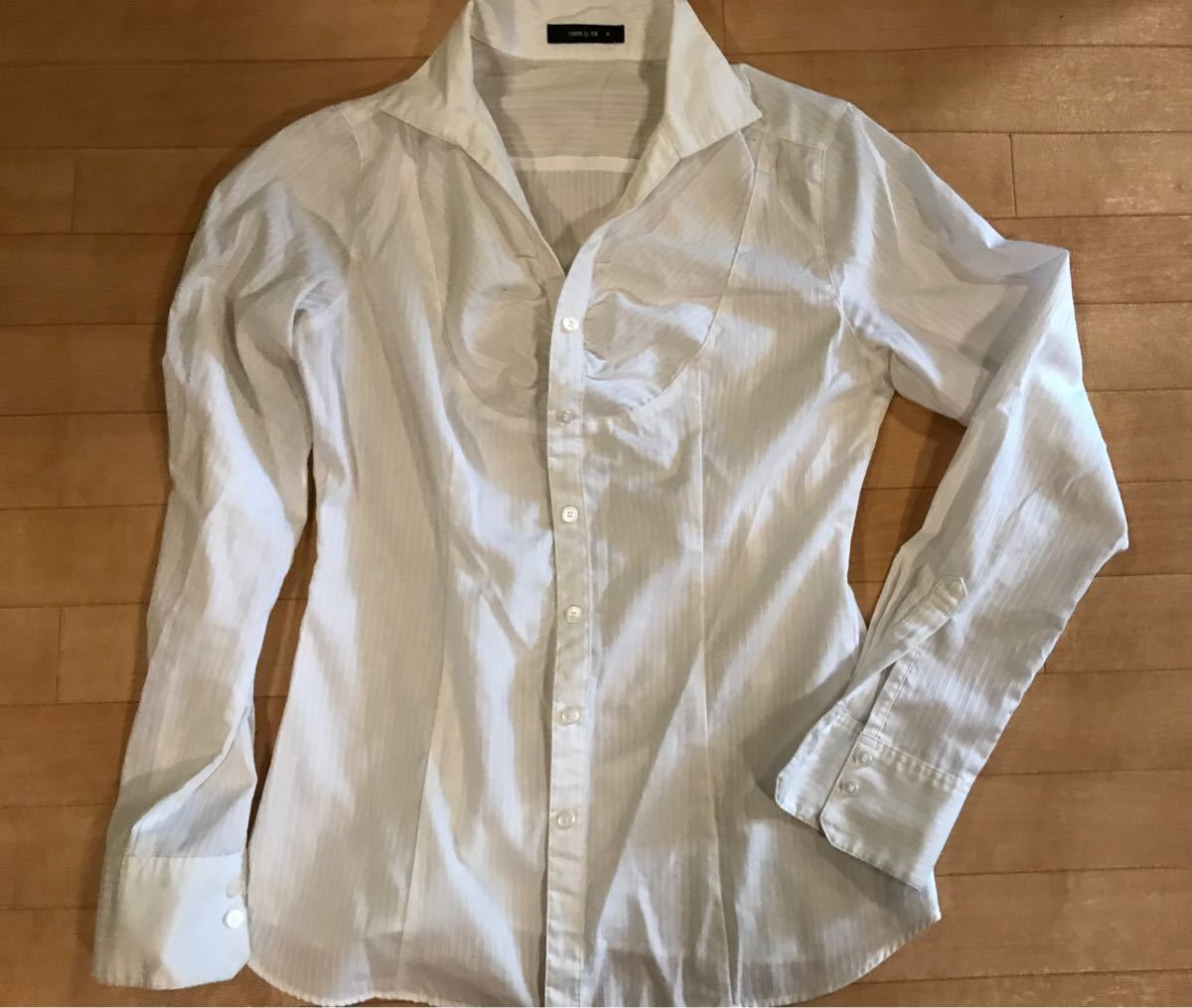 薄手長袖シャツ サテンミックス 4着セット