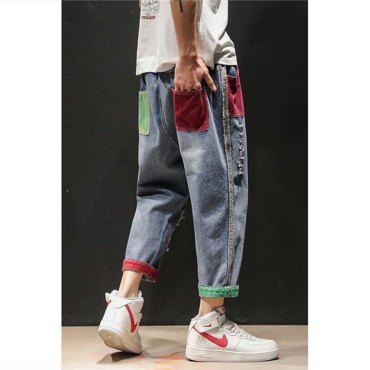 デニムパンツ  M メンズ ジーパン ジーンズ ファッション
