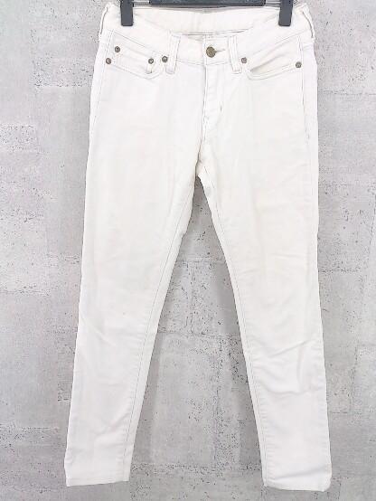 ◇ PLST プラステ ストレッチ デニム ジーンズ スキニー パンツ サイズ23 オフホワイト レディース_画像1