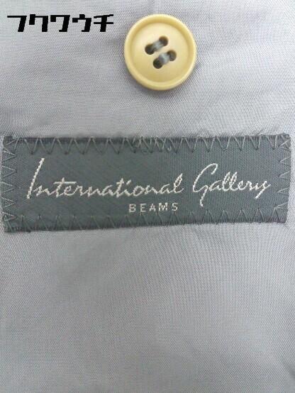 ◇ International Gallery BEAMS ビームス ウール100% 長袖 テーラード ジャケット サイズ44S グレー メンズ_画像5