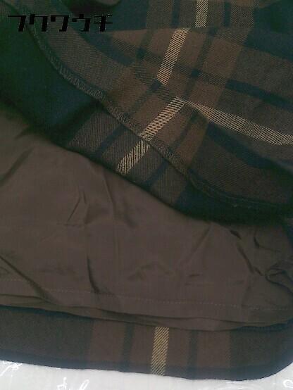 ◇ Paul Stuart ポール スチュアート ミニ スカート サイズ9AR ブラウン レディース_画像6