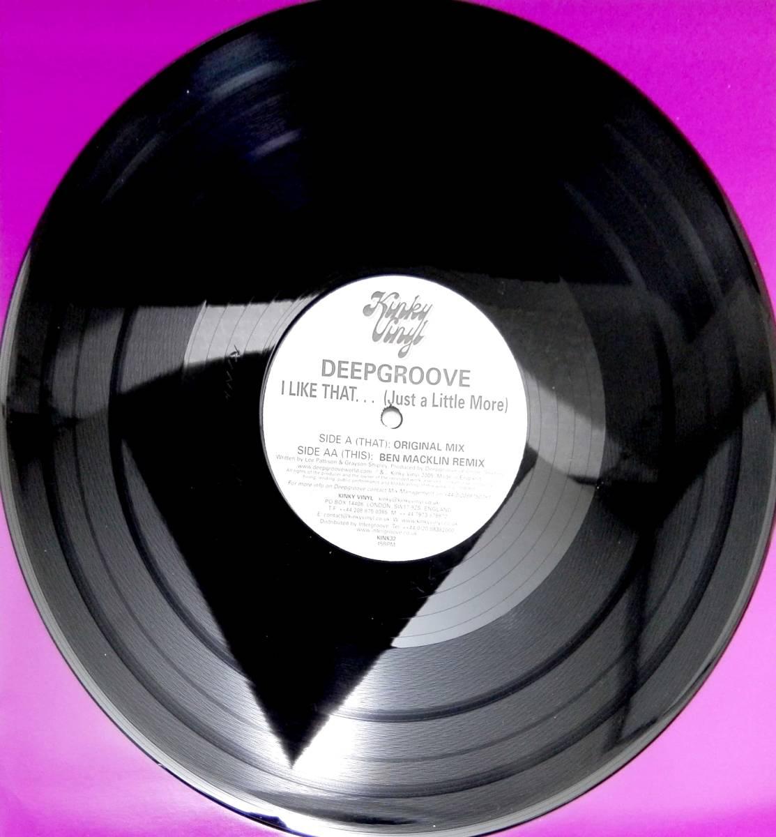 3435【LP盤】☆めったに出品されない ☆ ディープグルーヴ  DeepgrooveI Like That≪貴重レコード≫ 複数落札おまとめ発送可_画像2