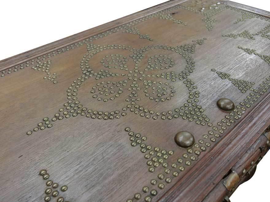 アンティーク アフリカ美術 木製鋲 コファー 箱 王侯酋長調度品 z-056_画像8