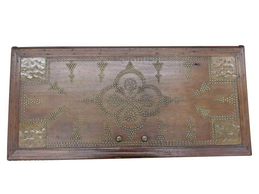 アンティーク アフリカ美術 木製鋲 コファー 箱 王侯酋長調度品 z-056_画像4