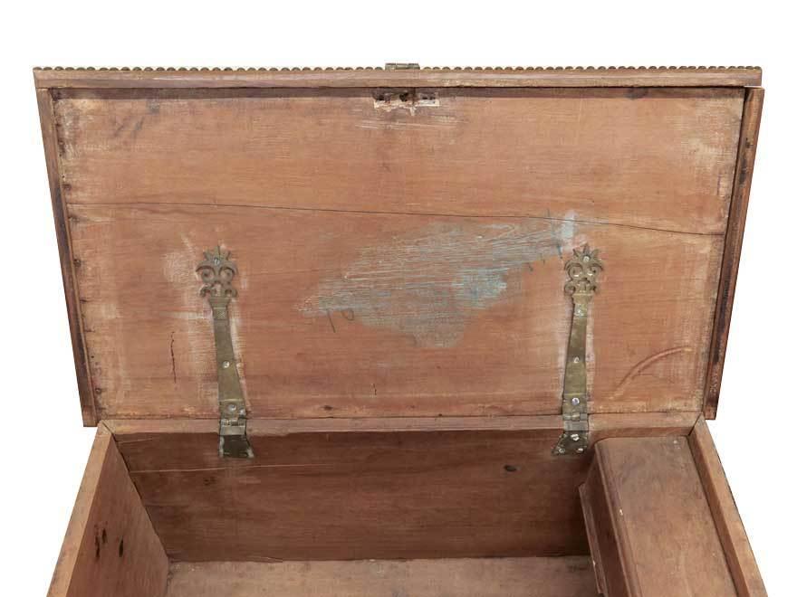 アンティーク アフリカ美術 木製鋲 コファー 箱 王侯酋長調度品  z-057_画像8