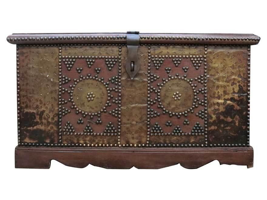 アンティーク アフリカ美術 木製鋲 コファー 箱 王侯酋長調度品  z-057_画像2