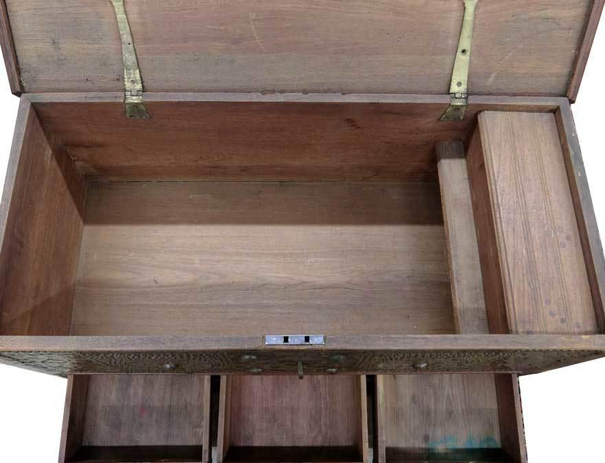 アンティーク アフリカ美術 木製鋲 コファー 箱 王侯酋長調度品 z-056_画像7