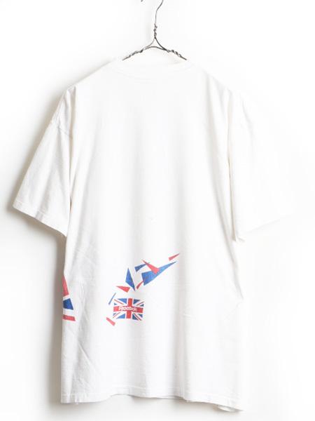 大きいサイズ XXL 90's USA製 ■ Reebok リーボック ビッグ ロゴ 両面 プリント 半袖 Tシャツ ( メンズ 男性 ) 半袖Tシャツ プリントT 白_画像7