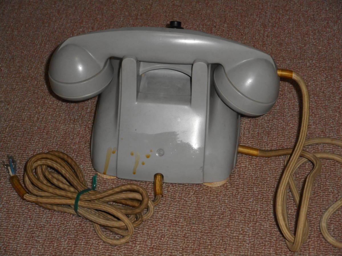 古い電話機★ボタン式・グレー色★メーカー不明_画像2