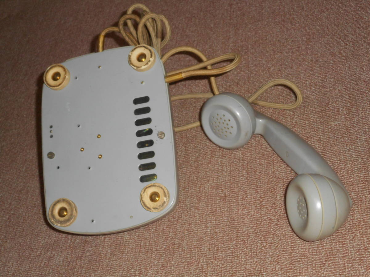 古い電話機★ボタン式・グレー色★メーカー不明_画像3