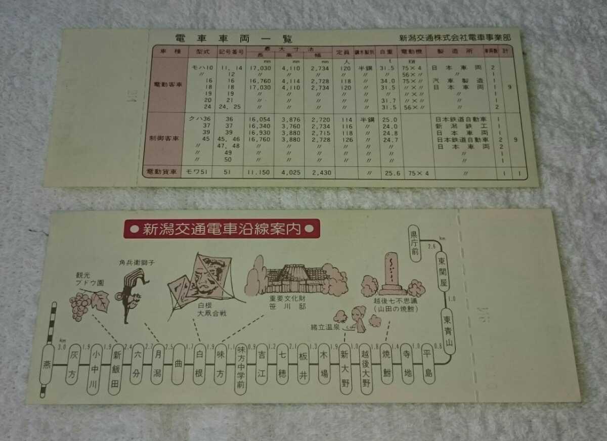 新潟交通 記念乗車券 東青山駅開設記念_画像3