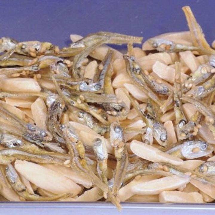 アーモンドいりこ(おまとめ120g×5p)アーモンドフィッシュは人気おつまみ♪小魚アーモンド、雑魚カルシュームはこれ!【送料込】_アーモンドフィッシュはいわし小魚ミックス