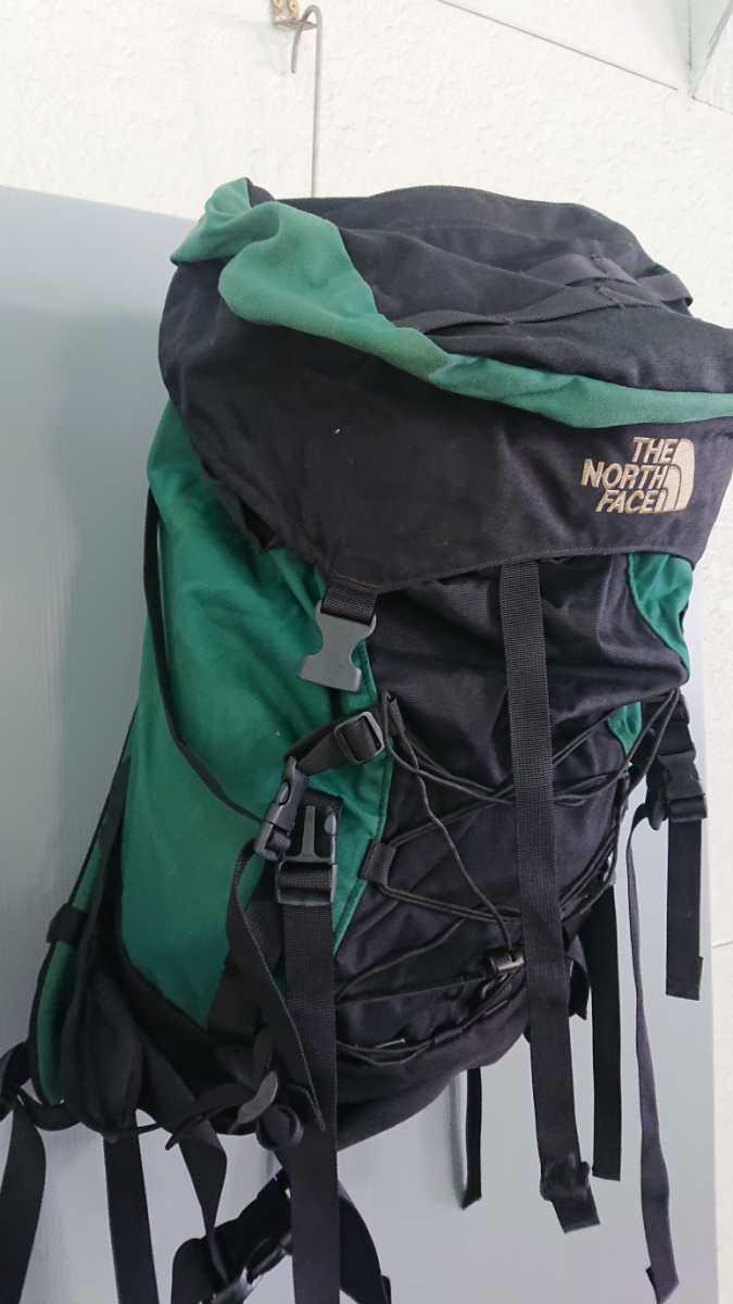 THE NORTH FACE ノースフェイス 緑×黒 リュック 登山 バッグ バックパック アウトドア
