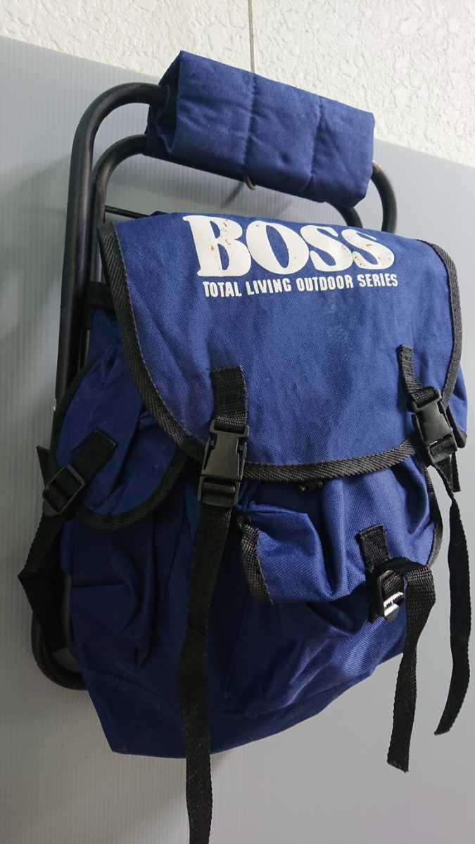 BOSS チェア バック 椅子になる リュック 折りたたみ式 軽量 アウトドア