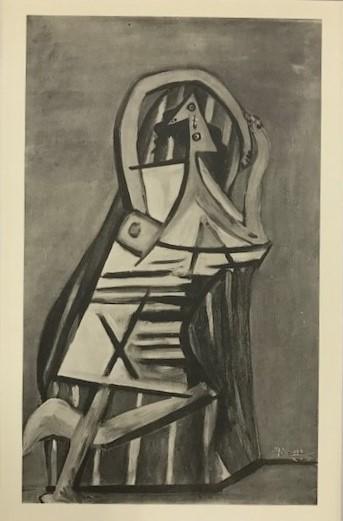 【特価】 ≪  パブロ・ピカソ  ≫  コロタイプ版画  WOMANIN CHEMISE IN AN ARMCHAIR   1930年   PABLO PICASSO
