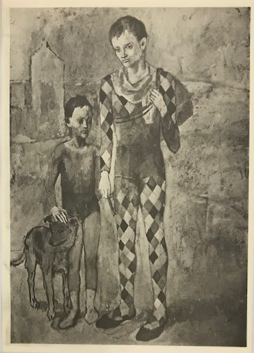 【特価】 ≪  パブロ・ピカソ  ≫  コロタイプ版画  THE MOUNTEBANKS  1930年   PABLO PICASSO
