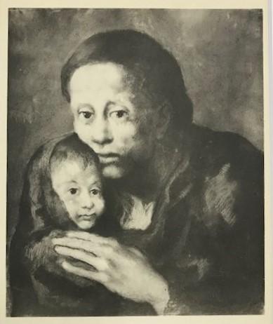 【特価】 ≪  パブロ・ピカソ  ≫  コロタイプ版画  MATERNITY   1930年   PABLO PICASSO