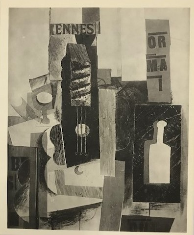 【特価】 ≪  パブロ・ピカソ  ≫  コロタイプ版画  GUITER AND GLASS   1930年   PABLO PICASSO