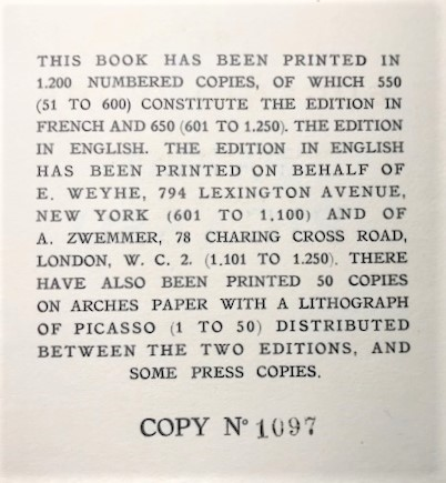 【特価】 ≪  パブロ・ピカソ  ≫  コロタイプ版画  THE WOMEN IN WHITE   1930年   PABLO PICASSO