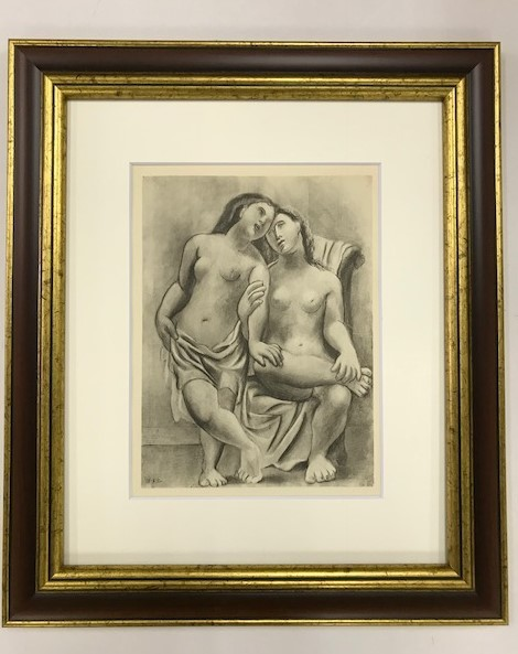 【特価】 ≪  パブロ・ピカソ  ≫  コロタイプ版画  GIRL  BATHING  1930年   PABLO PICASSO