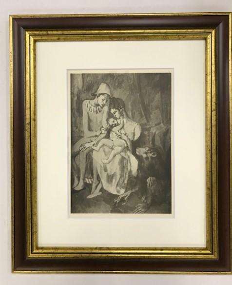 【特価】 ≪  パブロ・ピカソ  ≫  コロタイプ版画  FAMILY WITH A MONKEY  1930年   PABLO PICASSO