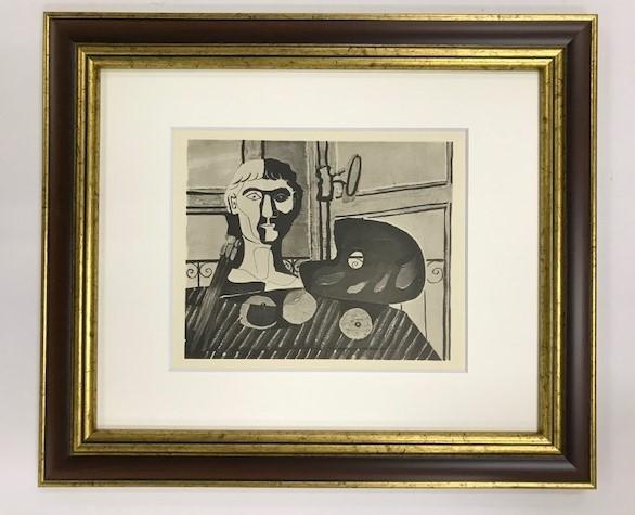【特価】 ≪  パブロ・ピカソ  ≫  コロタイプ版画  PALETTE BRUSHES AND PLASTER MODEL   1930年   PABLO PICASSO