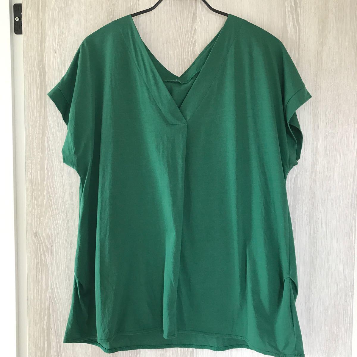【PLST】 グリーントップス Tシャツ