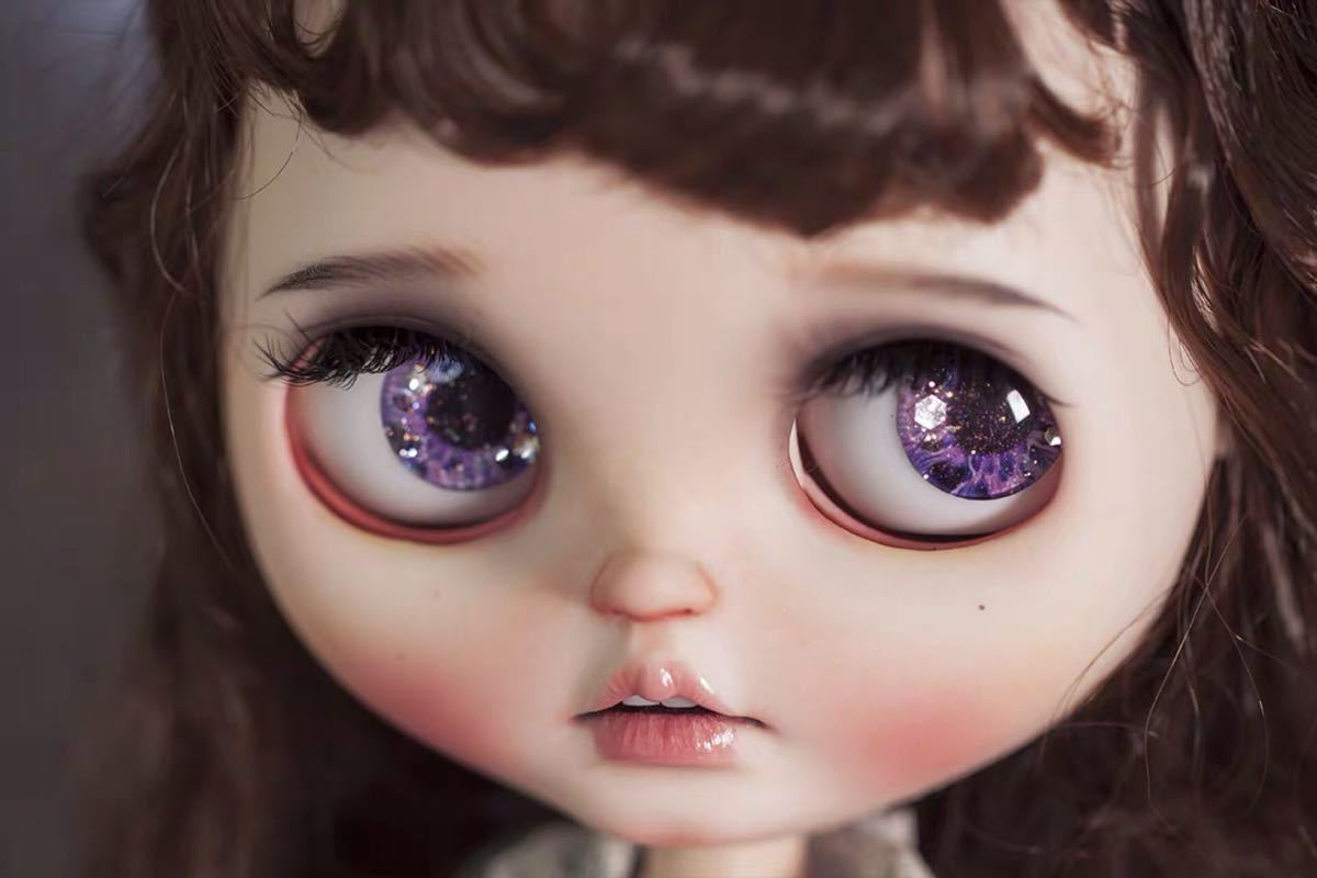 アイ 目 カスタムヘッド 1/6 DD SD MDD MSD ブライス OB11 ウィッグ ウイッグ カツラ 毛 服 球体関節人形 BJD ドール オビツ11 Blythe doll_画像1