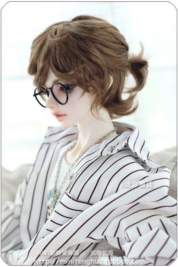 オビツ ob11 BJD 1/8 男の子 男子 服 人形 ウィッグ カツラ ウイッグ 髪の毛 ドール カスタムヘッド ブライス DD MDD SD 耐熱 頭 顔 短髪_画像4