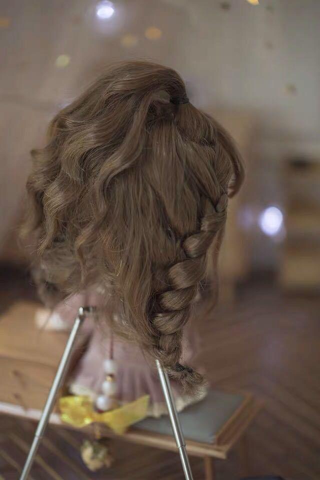 カスタムヘッド 1/6 DD SD MDD MSD ブライス OB11 ウィッグ ウイッグ カツラ 毛 服 球体関節人形 BJD 髪の毛 ドール オビツ11 GSC 耐熱_画像5