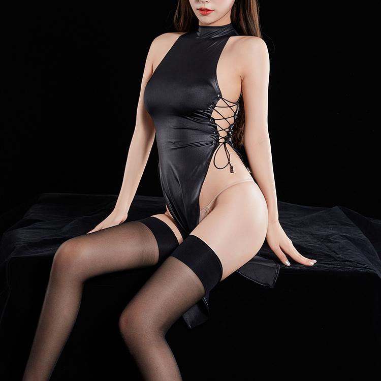 z053 超セクシー チャイナ風 ワンピース チャイナドレス 誘惑 ボディコン セクシーランジェリー 勝負下着 コスプレ衣装 コスチューム 黒_画像1