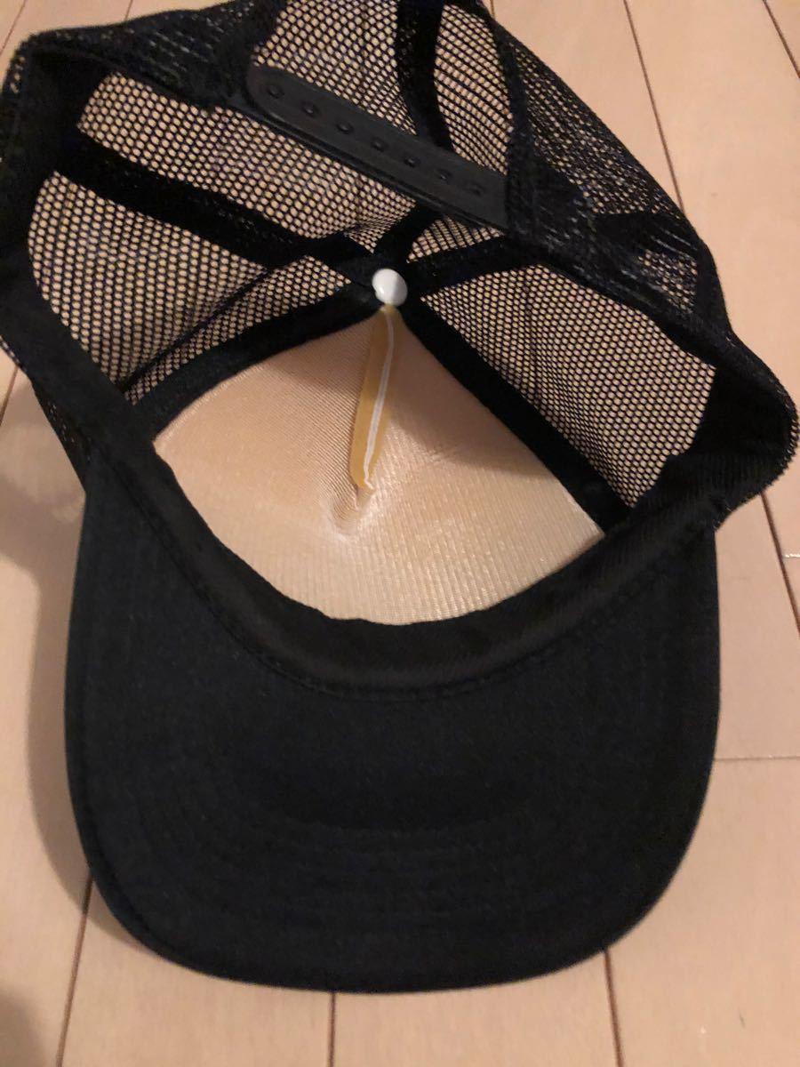 キャップ 英字 メンズ 黒 メッシュ 帽子 アメリカ