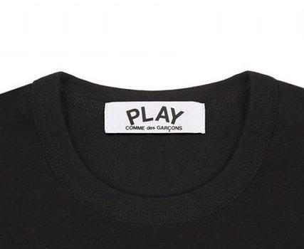 Lサイズ COMMEdesGARCONS PLAY Tシャツ 赤ロゴ コムデギャルソン メンズ