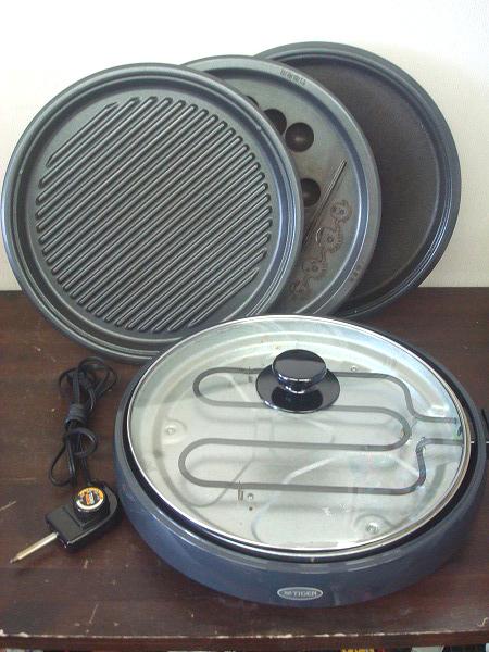 C339★TIGER タイガー ホットプレート これ1台 CPJ-Y130 焼肉 たこ焼き お好み焼き 3way 丸型 波型 平面 たこ焼き プレート 中古品_画像1