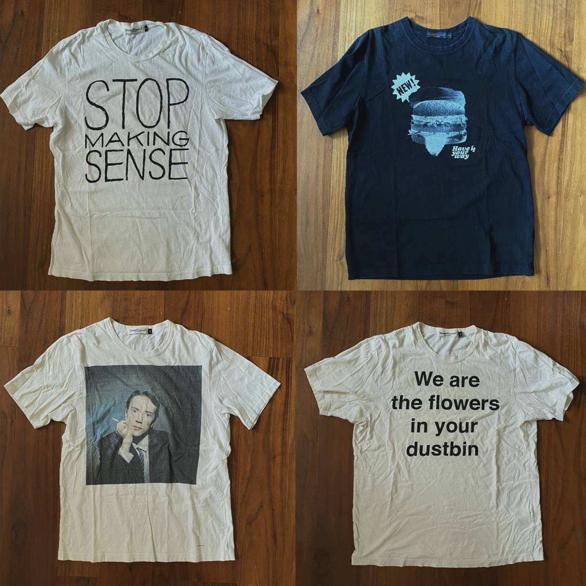 UNDERCOVER アンダーカバー Tシャツセット undercoverism サイズ2 sacai unused sunsea sex pistols talking heads dennis Morris_画像1