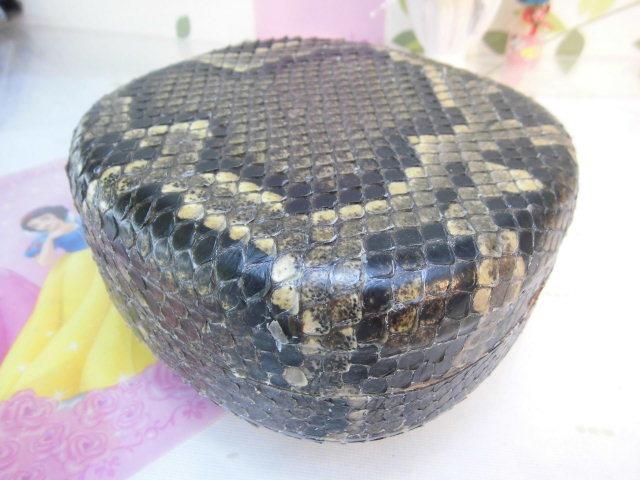 (送料無料)32.980円 沖縄三線専用チーガ(胴) 蛇皮本張り 写真は参考出品見本画像です。_画像7