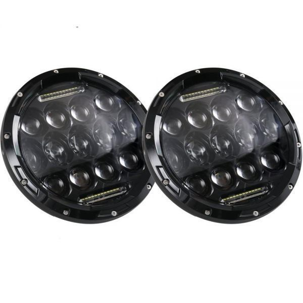 YF1150 新品★7インチ LEDヘッドライト 13プロジェクター HD zeep ジムニー ランクル ローバーミニ JA キャリー パジェロ 全2色_画像4