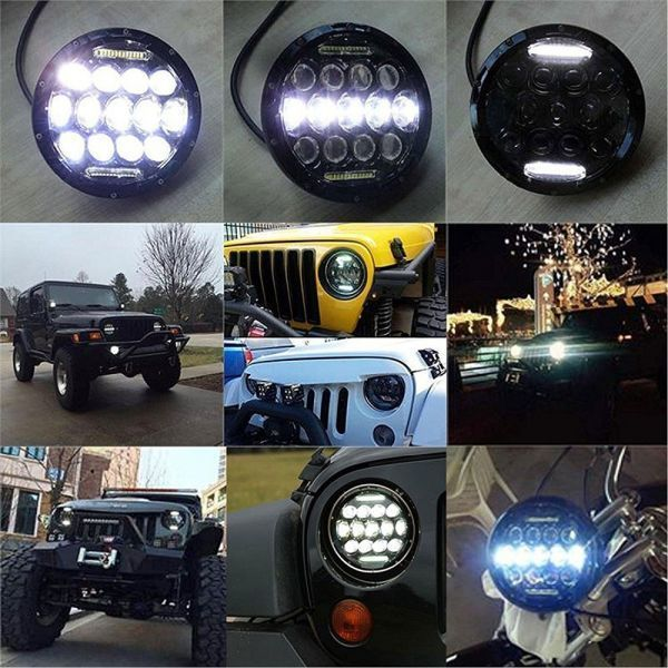 YF1150 新品★7インチ LEDヘッドライト 13プロジェクター HD zeep ジムニー ランクル ローバーミニ JA キャリー パジェロ 全2色_画像3