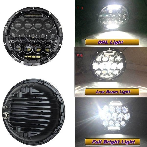 YF1150 新品★7インチ LEDヘッドライト 13プロジェクター HD zeep ジムニー ランクル ローバーミニ JA キャリー パジェロ 全2色_画像7