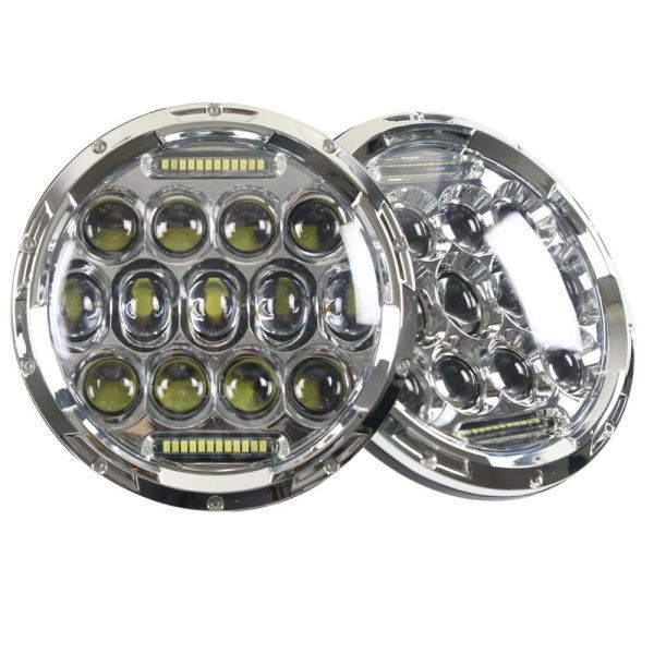YF1150 新品★7インチ LEDヘッドライト 13プロジェクター HD zeep ジムニー ランクル ローバーミニ JA キャリー パジェロ 全2色_画像1