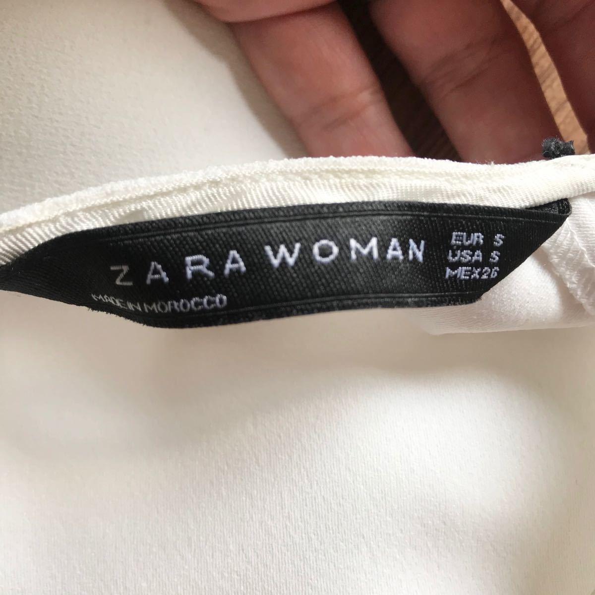 ZARA ブラウス トップス カットソー 半袖 ホワイト