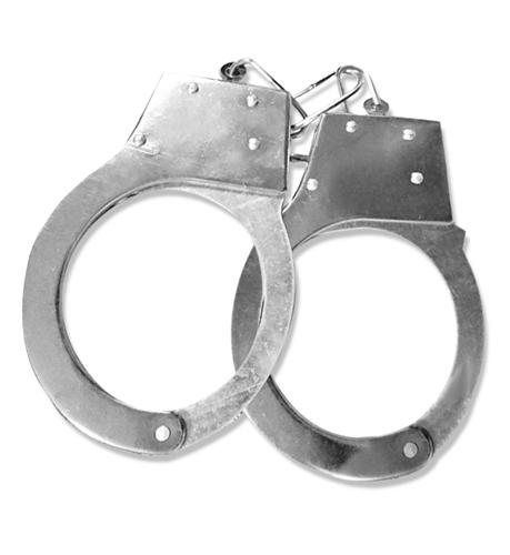 手錠 銀錠 シルバー ハンドカフ コスプレ ハロウィン 警察ごっこなどに レプリカ 新品未使用 _画像1