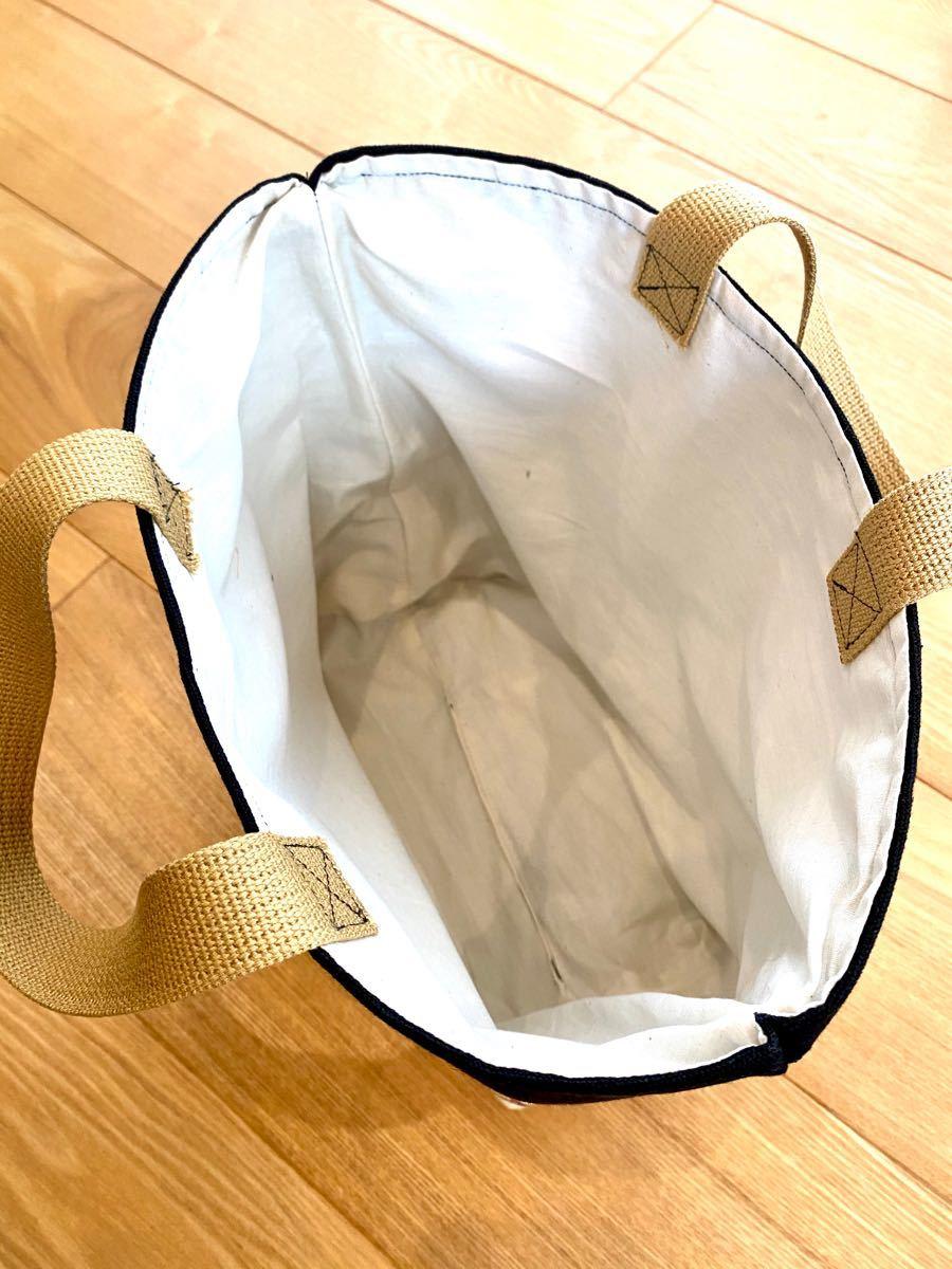 ハンドメイド トートバッグ トリックバスケット 帆布 黒