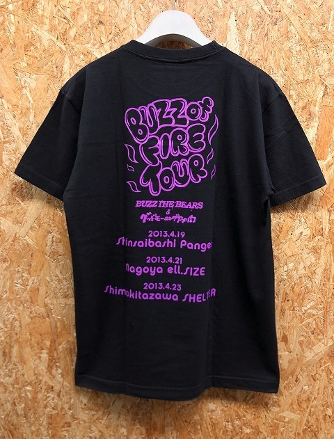 United Athle - M メンズ Tシャツ 『BUZZ of FIRE / BUZZ THE BEARS & グッドモーニングアメリカ』 バンドT ツアーT 音楽 半袖 綿100% 黒_画像3