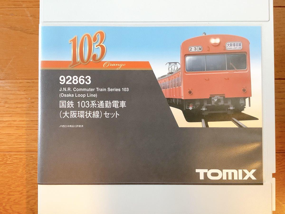新品同様 TOMIX トミックス 92863 国鉄103系通勤電車 大阪環状線 8両セット_画像4